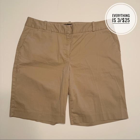 Talbots Pants - Talbots Khaki Bermuda Shorts Size 10